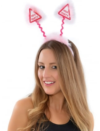 Pink Hen Party Head Boppers