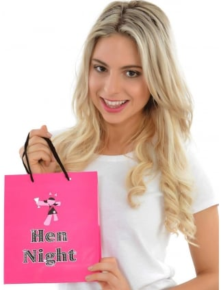 Pink Hen Night Party Gift Bag