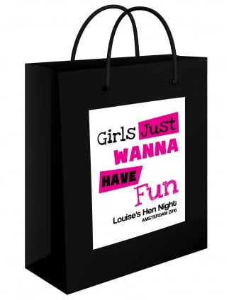 Girls Just Want To Have Fun Personalised Gift Bag