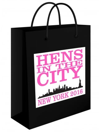 Hens In The City Personalised Hen Party Gift Bag