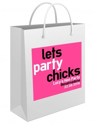 Lets Party Chicks Personalised Hen Party Gift Bag