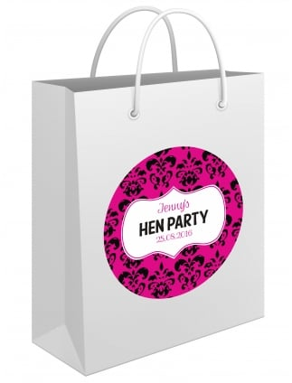 Sassy Damask Personalised Hen Party Gift Bag