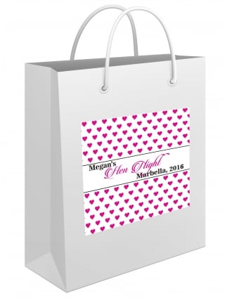 Sweet Hearts Personalised Hen Party Gift Bag