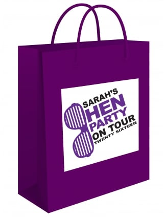 Personalised Hen Party On Tour Gift Bag