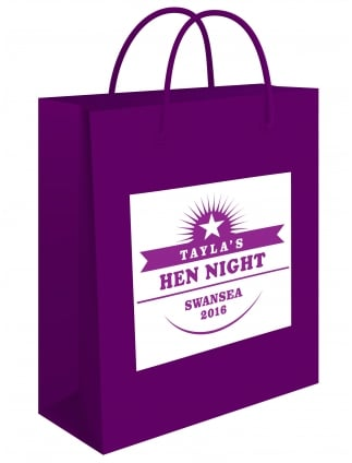 Retro Star Personalised Hen Party Gift Bag