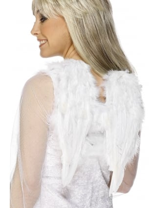 White Small Feathered Angel Wings