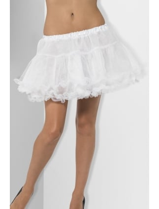 Petticoat With Satin Band White