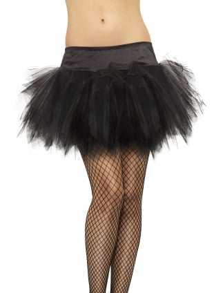 Tutu Frilly Black With Silk Band