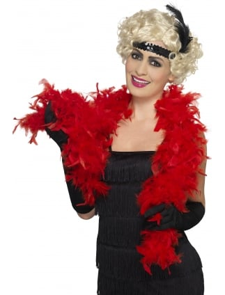 Fluffy Feather Boa Scarlet Red