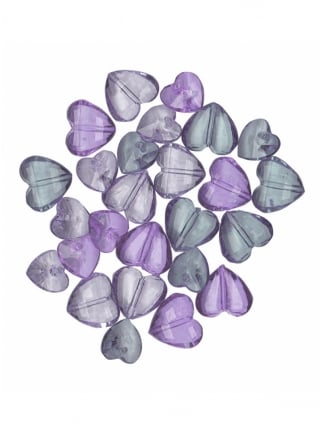 Hen Party/ Wedding Table Heart Confetti/Gems Purple and Clear