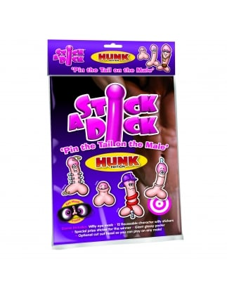 Stick A Willy Hen Party Game (Pin The Tail)