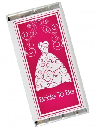 Bride To Be Dress Chocolate Bar Gift