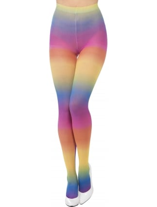 Opaque Tights Multi-coloured Rainbow