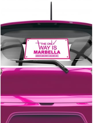 The Only Way Is ? Personalised Hen Party Rear Window Car Sticker