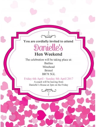 hen party invitations personalised invitations hen party superstore