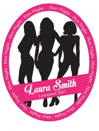 Personalised Silhouettes Hen Party Wine Bottle Label
