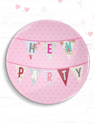 Hen Party Bunting Badge