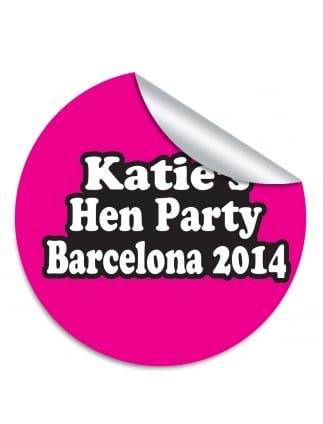 Katies personalised hen party stickers pack of
