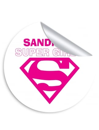Super Girls Personalised Hen Party Stickers (Pack of 10)