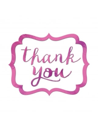 Thank You Stickers Pink