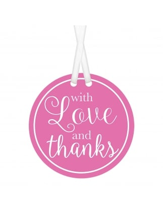 Thank You Gift Tags Pink