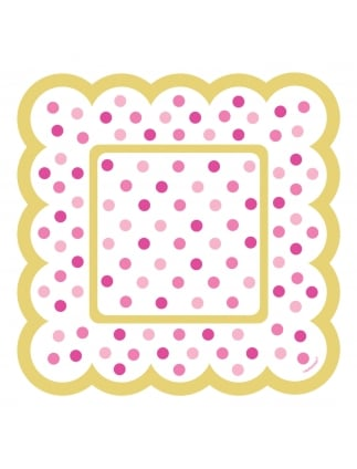 Hen Party Spotty Small Treat Plates (36 Per Pack)