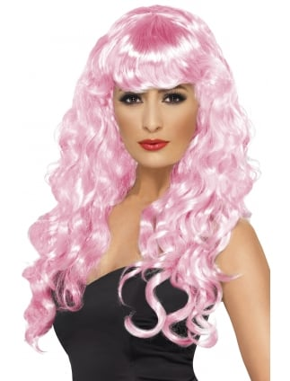 Siren Long Curly Wig Pink