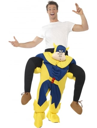 Bananaman White and Navy Piggyback Costume