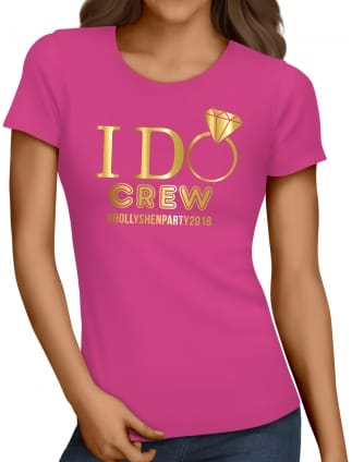 I Do Crew Personalised Party T-Shirt