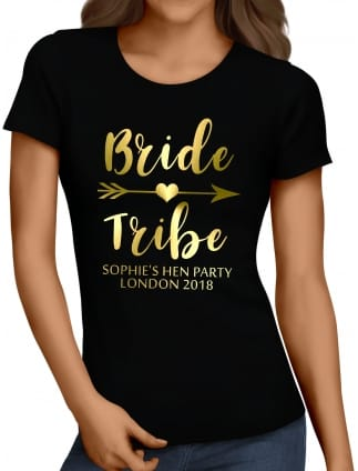 Bride Tribe Personalised Party T-Shirt