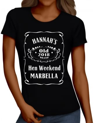 Tennessee Whiskey Personalised Hen Party T-Shirts Hen Night Tops