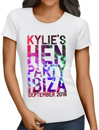 Clubbing Personalised Hen Party T-Shirts