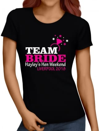 Team Bride Personalised Hen Party T-Shirts