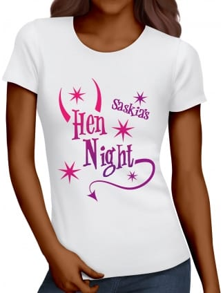 Horns and Tail Personalised Hen Night T-Shirt