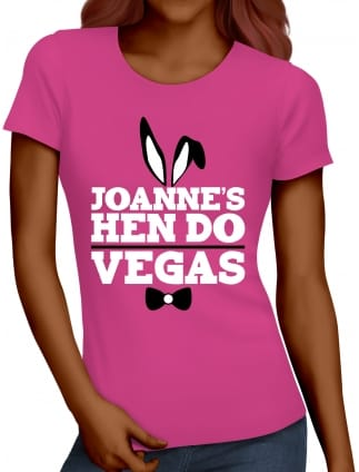 Bunny Girl Personalised Hen Party T-Shirts