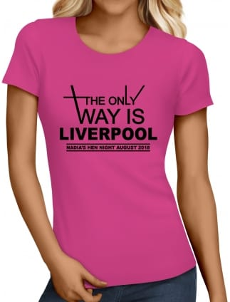 The Only Way Is Personalised Hen Party T-Shirts