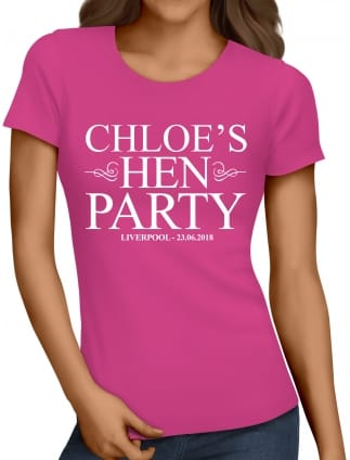 Classic Personalised Hen Night T-Shirts