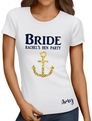 Bride Glitter Anchor T-Shirt