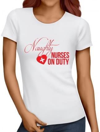 Naughty Nurse Hen Party T-Shirt