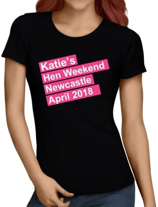Hen Weekend Personalised Hen Party T-Shirts