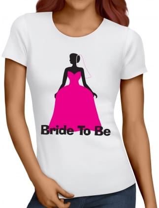 Wedding Dress Bride To Be T-Shirts
