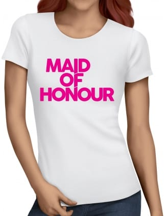 Distinctive Maid Of Honour Hen Party T-Shirts