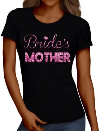 Glitter Mother Of The Bride Hen Party T-Shirts