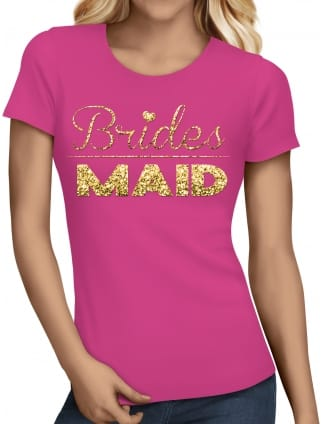 Glitter Bridesmaid Hen Party T-Shirts