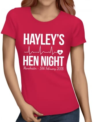 Nurse Personalised Hen Party T-Shirt