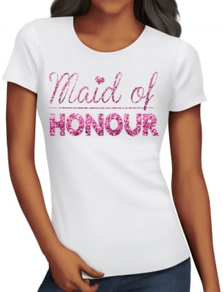 Glitter Maid Of Honour T-Shirts