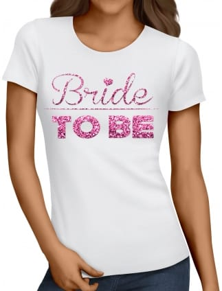 Glitter Bride Hen Party T-Shirts
