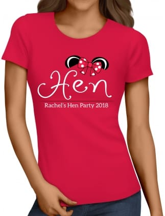 Mouse Hen Personalised Party T-Shirt Red
