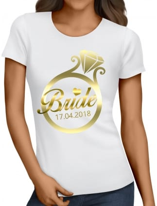 Gold Ring Bride T-Shirts