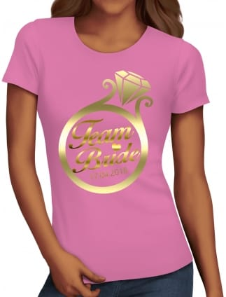 Gold Ring Team Bride T-Shirts